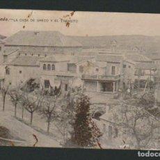 Postales: TOLEDO.LA CASA DE GRECO Y EL TRÁNSITO.POSTAL CIRCULADA EN 1909. Lote 72856215