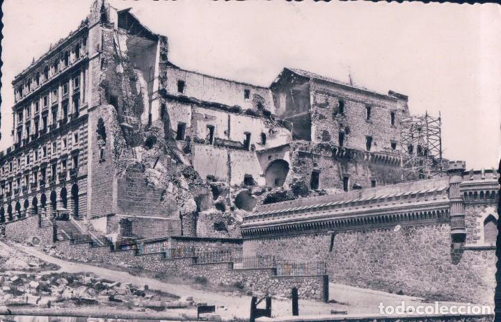 POSTAL TOLEDO.-EL ALCÁZAR, DESPUES DEL ASEDIO; 2. H.A.E. (Postales - España - Castilla La Mancha Antigua (hasta 1939))