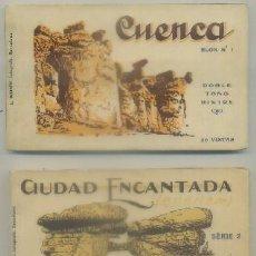 Postales: BLOCK POSTAL. CUENCA Y CIUDAD ENCANTADA. SERIE 1 Y 2. DOS BLOC DE 20 POSTALES C/U P-BLOC-187. Lote 79219053