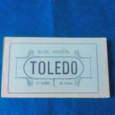 Postales: TOLEDO .- BLOC POSTAL .- 2ª SERIE .- 20 VISTAS .- 1 DOBLE PANORAMICA .- EDICION GRAFOS. Lote 79645121