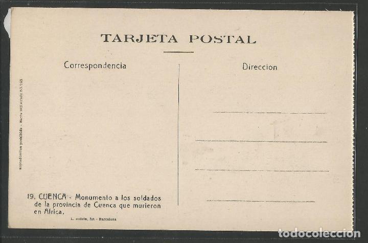 Postales: CUENCA - 19- MONUMENTO SOLDADOS - ROISIN -VER REVERSO-(47.421) - Foto 2 - 82498920