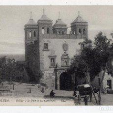 Postales: TOLEDO. SALIDA A LA PUERTA DEL CAMBRÓN. CARRUAJE.. Lote 86956828