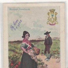 Postales: MUJERES ESPAÑOLAS ALBACETE REVERSO SIN DIVIDIR. CIRCULADA. Lote 87347108