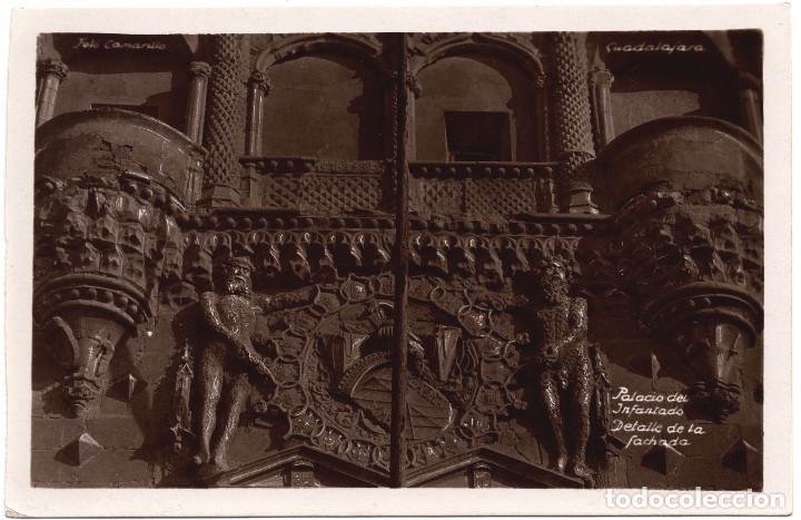 GUADALAJARA.- PALACIO DE INFANTADO DETALLE FACHADA (Postales - España - Castilla la Mancha Moderna (desde 1940))