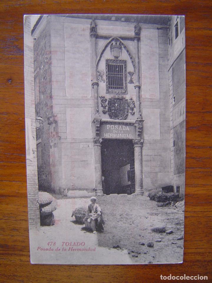 POSTAL 478 TOLEDO - POSADA DE LA HERMANDAD - PUBLICIDAD DE CASA PUJOL (Postales - España - Castilla La Mancha Antigua (hasta 1939))