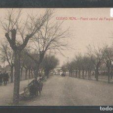 Postales: CIUDAD REAL - PASEO CENTRAL DEL PARQUE GASSET - P21677. Lote 90771475