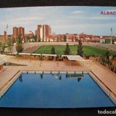 Postales: POSTAL ALBACETE - ESTADIO MUNICIPAL CARLOS BELMONTE - CIRCULADA.. Lote 92348695