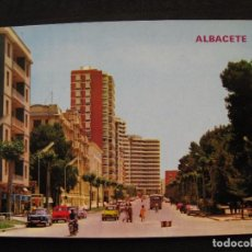 Postales: POSTAL ALBACETE - AVENIDA RODRIGUEZ ACOSTA.. Lote 92357970