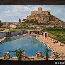 Postales: POSTAL ALMANSA - PISCINA CASTILLO.. Lote 92793840