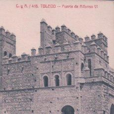 Postais: POSTAL TOLEDO - PUERTA DE ALFONSO VI (TOLEDO) FOTO CASTAÑEIRA Y ALVAREZ Nº 416 C Y A. Lote 93162810