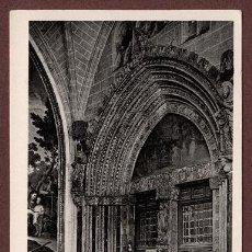 Postales: POSTAL FOTOGRÁFICA DE LA CATEDRAL DE TOLEDO, PUERTA DE SANTA CATALINA. NO CIRCULADA, AÑOS 1950. Lote 94530158