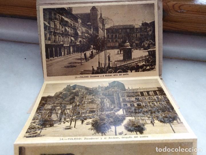 Postales: ALBUM DESPLEGABLE DE 12 POSTALES DE TOLEDO.segunda serie HELIOTIPIA ARTISTÍCA ESPAÑOLA - Foto 2 - 94990059