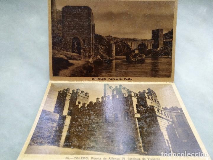 Postales: ALBUM DESPLEGABLE DE 12 POSTALES DE TOLEDO.segunda serie HELIOTIPIA ARTISTÍCA ESPAÑOLA - Foto 3 - 94990059