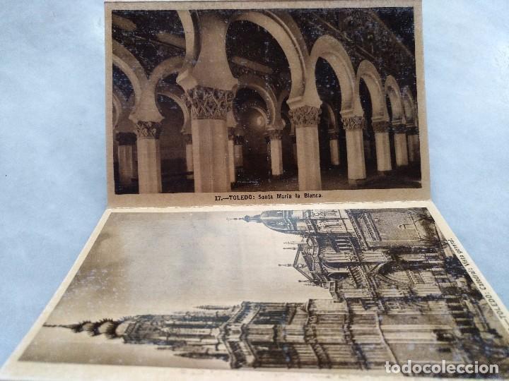 Postales: ALBUM DESPLEGABLE DE 12 POSTALES DE TOLEDO.segunda serie HELIOTIPIA ARTISTÍCA ESPAÑOLA - Foto 4 - 94990059