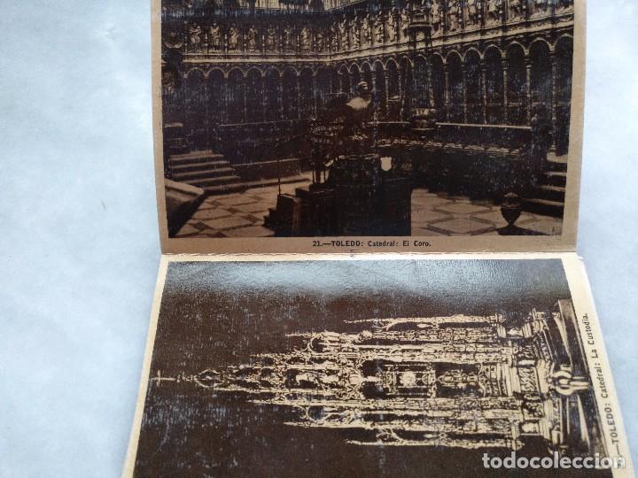 Postales: ALBUM DESPLEGABLE DE 12 POSTALES DE TOLEDO.segunda serie HELIOTIPIA ARTISTÍCA ESPAÑOLA - Foto 6 - 94990059