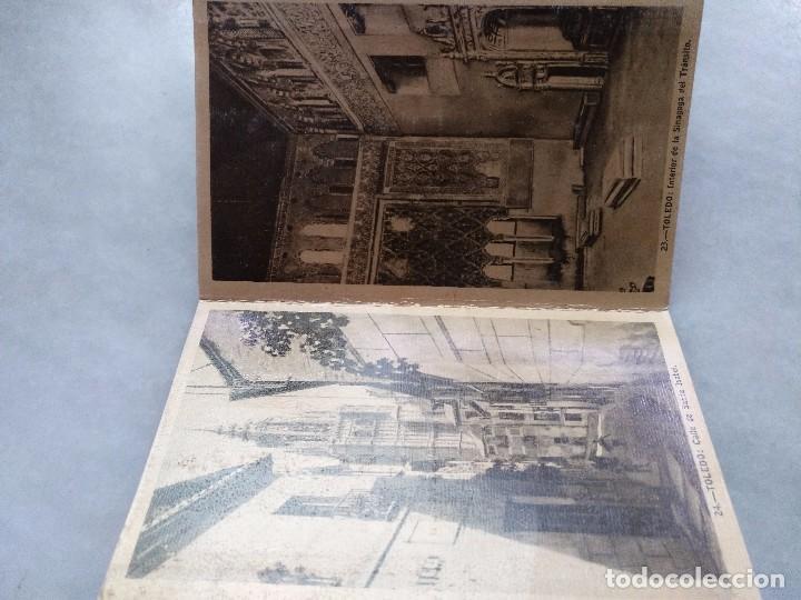 Postales: ALBUM DESPLEGABLE DE 12 POSTALES DE TOLEDO.segunda serie HELIOTIPIA ARTISTÍCA ESPAÑOLA - Foto 7 - 94990059