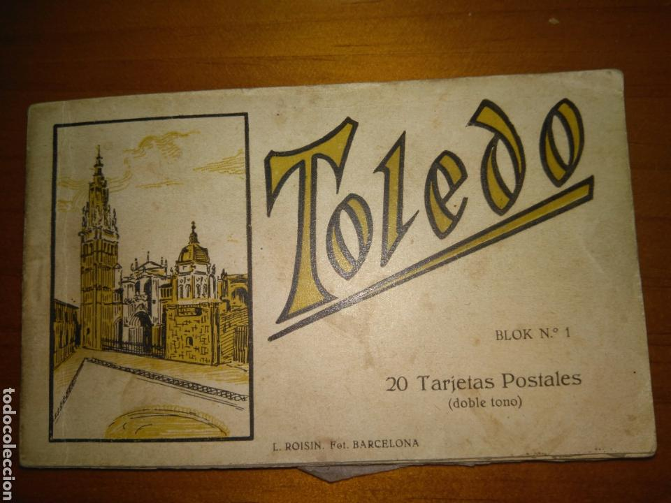 TOLEDO BLOK NÚMERO 1- SERIE COMPLETA- 20 TARJETAS POSTALES DOBLE TONO, LUCIANO ROISIN (Postales - España - Castilla La Mancha Antigua (hasta 1939))