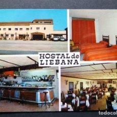 Postales: HOSTAL LIEBANA , TRIJUEQUE (GUADALAJARA). POSTAL SIN CIRCULAR . Lote 95934955