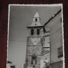 Postales: FOTOGRAFIA DE EL BONILLO (ALBACETE) TORRE DE LA IGLESIA PARROQUIAL DE SANTA CATALINA, MIDE 13,8 X 8,. Lote 96137627