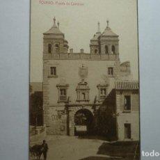 Postales: POSTAL TOLEDO.PUERTA DE CAMBRON --LLEVA AL DORSO PUBLICIDAD DE CEREGUMIL--BB. Lote 97096875