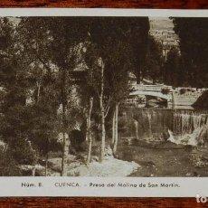 Postales: ANTIGUA POSTAL DE CUENCA, PRESA DEL MOLINO DE SAN MARTIN, NUM. 8, ED. FONTANA, FOTO MEDIAMARCA, NO C. Lote 98111243