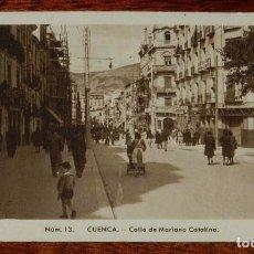 Postales: ANTIGUA POSTAL DE CUENCA, CALLE DE MARIANO CATALINA, NUM. 13, ED. FONTANA, FOTO MEDIAMARCA, NO CIRCU. Lote 98111451