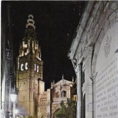 Postales: ** A1086 - POSTAL - TOLEDO - CALLE TIPICA Y TORRE CATEDRAL . Lote 99685631