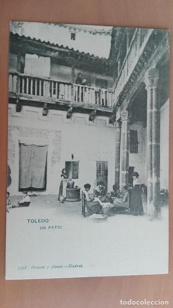 POSTAL TOLEDO Nº 1378 UN PATIO TOLEDANO EDIC HAUSER Y MENET CASTILLA LA MANCHA MUJERES TEJIENDO (Postales - España - Castilla La Mancha Antigua (hasta 1939))