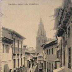 Postales: TOLEDO. CALLE DEL COMERCIO. PAPELERÍA FERNANDEZ, COMERCIO 30. SIN CIRCULAR. Lote 103031351