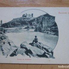 Postales: RECUERDO DE TOLEDO. PUENTE DE ALCANTARA. VDA MUÑOZ Y SOBO. REVERSO SIN DIVIDIR. Lote 103846167