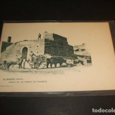 Postales: ALMADEN CIUDAD REAL MINAS CARGA DE UN HORNO DE CINABRIO. Lote 103993087