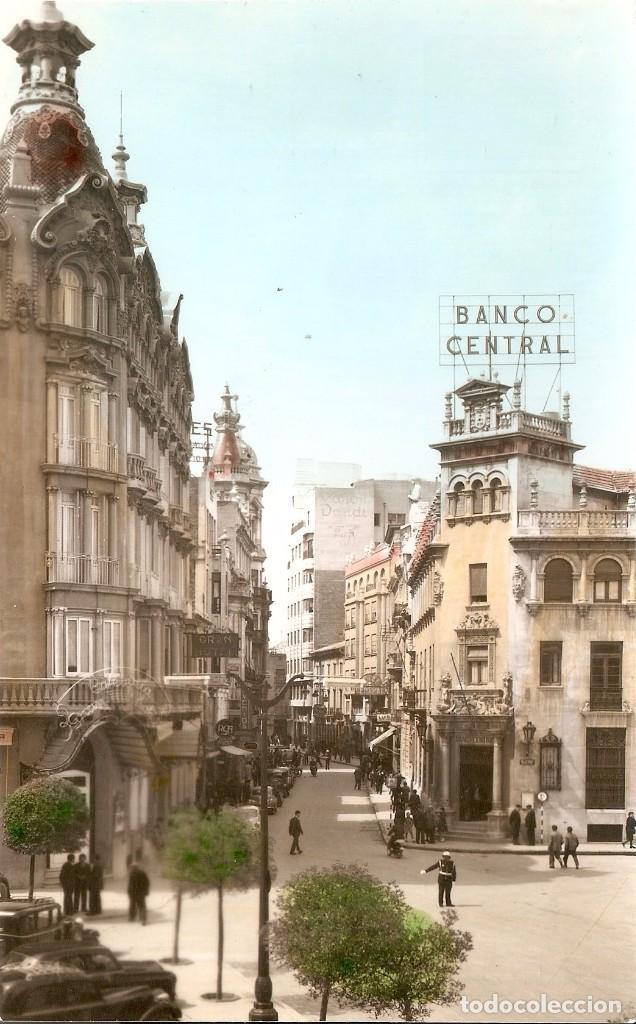 ALBACETE 12 CALLE DEL MARQUES DE MOLINS CIRCULADA 1963 (Postales - España - Castilla la Mancha Moderna (desde 1940))