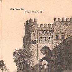 Postales: TOLEDO LA PUERTA DEL SOL. Lote 104308463