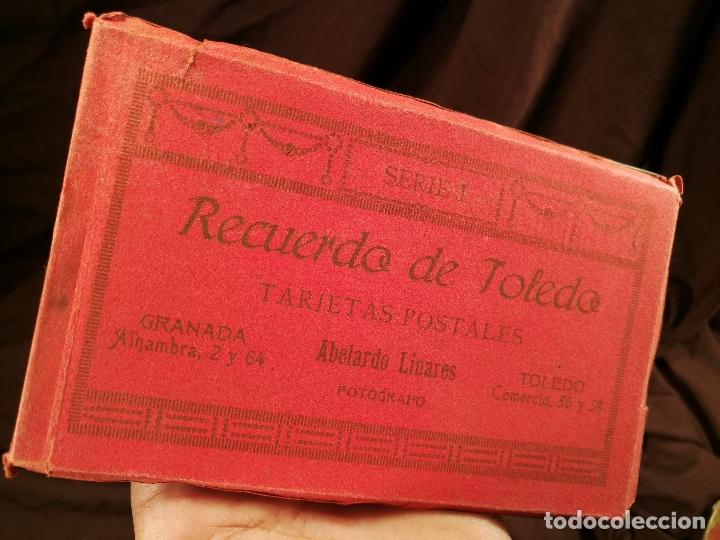 RECUERDO DE TOLEDO, BLOC DE TARJETAS POSTALES, SERIE I DE ABELARDO LINARES, 14 X 9 CM. (Postales - España - Castilla La Mancha Antigua (hasta 1939))