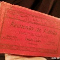 Postales: RECUERDO DE TOLEDO, BLOC DE TARJETAS POSTALES, SERIE I DE ABELARDO LINARES, 14 X 9 CM.. Lote 104312383