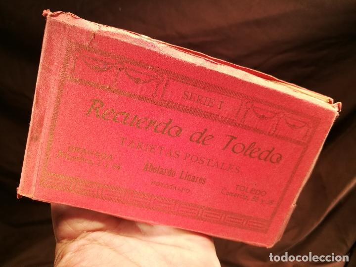 Postales: RECUERDO DE TOLEDO, BLOC DE TARJETAS POSTALES, SERIE I DE ABELARDO LINARES, 14 X 9 CM. - Foto 12 - 104312383