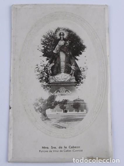 FOTOGRAFIA EN CARTON DE LA VIRGEN DE LA CABEZA. VILLAR DE CAÑAS. CUENCA. MIDE 19,8 X 12,5 CMS. (Postales - España - Castilla La Mancha Antigua (hasta 1939))