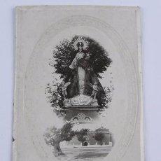 Postales: FOTOGRAFIA EN CARTON DE LA VIRGEN DE LA CABEZA. VILLAR DE CAÑAS. CUENCA. MIDE 19,8 X 12,5 CMS.. Lote 104676823