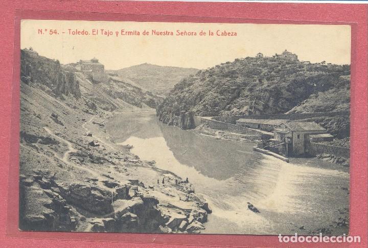 TOLEDO,EL TAJO Y ERMITA DE NUESTRA SRA DE LA CABEZA REVERSO PUBLICIDAD FRANCISCO MARTINEZ, VER FOTOS (Postales - España - Castilla La Mancha Antigua (hasta 1939))