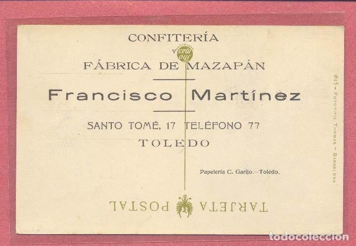 Postales: toledo,el tajo y ermita de nuestra sra de la cabeza reverso publicidad francisco martinez, ver fotos - Foto 2 - 109089743