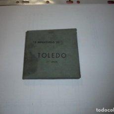 Postales: 15 MINIATURAS DE TOLEDO(2ª SERIE)RELLEV. Lote 109322199