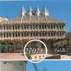 Postales: CIUDAD REAL - AYUNTAMIENTO Y MOLINOS MANCHEGOS - AÑO 1998. Lote 110727287