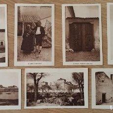 Postales: 7 POSTALES DE EL TOBOSO, TOLEDO, POSTAL TIPOS DEL PAIS. CALLEJON DE MEJIA, PUERTA DE VIEJA VENTA, LA. Lote 110895255