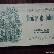 Postales: GUERRA CIVIL.ALCAZAR DE TOLEDO.PRIMERA SERIE DE 12 POSTALES.ED.HUECO GRABADO FOURNIER,VICTORIA.. Lote 112693055
