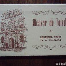 Postales: GUERRA CIVIL.ALCAZAR DE TOLEDO.SEGUNDA SERIE DE 12 POSTALES.ED.HUECO GRABADO FOURNIER,VICTORIA.. Lote 112693203
