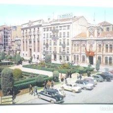 Postales: POSTAL ALBACETE PLAZA EL CAUDILLO-COCHES CIRCULADA. Lote 114101047