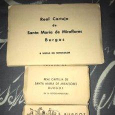 Postales: LOTE ANTIGUOS ACORDEON POSTALES BURGOS ARTÍSTICO Y MONUMENTAL CARTUJA MIRAFLORES . Lote 114125959