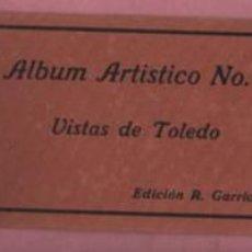 Postales: PORTADA DIPTICA SIN POSTALES DEL ALBUM ARTISTICO Nº 2 VISTA DE TOLEDO EDICIÓN R. GARRIDO. Lote 115306587