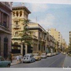 Postales: POSTAL ALBACETE .-CALLE TESIFONTE GALLEGO-COCHES SEAT. Lote 115364103