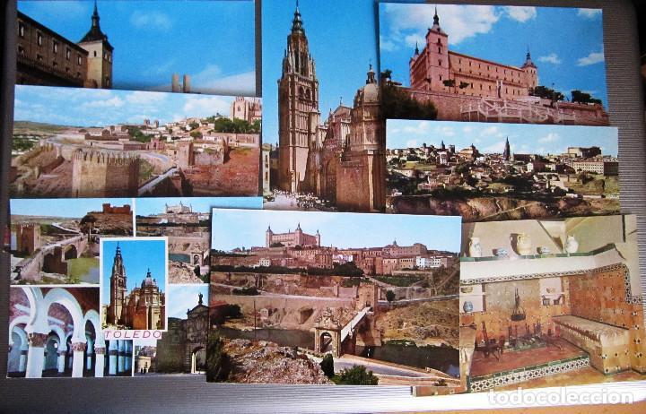 MUY ANTIGUAS 8 POSTALES DE TOLEDO 50/60 (Postales - España - Castilla la Mancha Moderna (desde 1940))